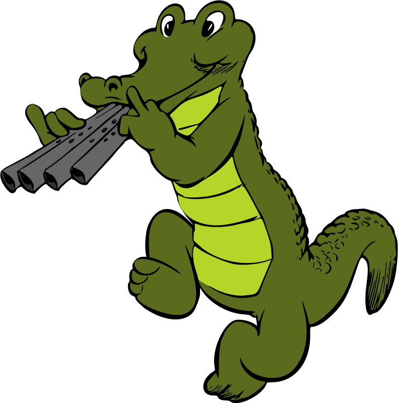 Musical crocodile (colour)
