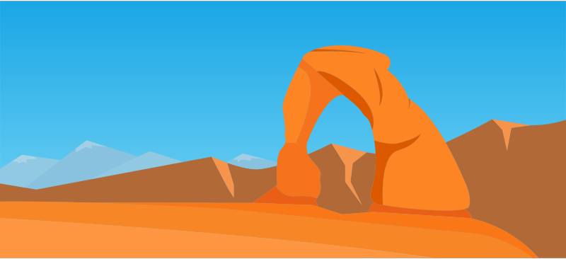 Stylized Arches National Park 2