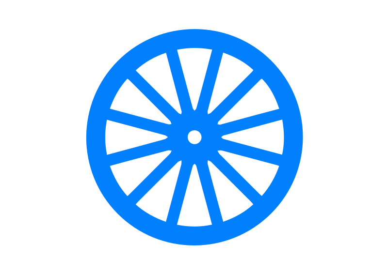 Blue Cart Wheel