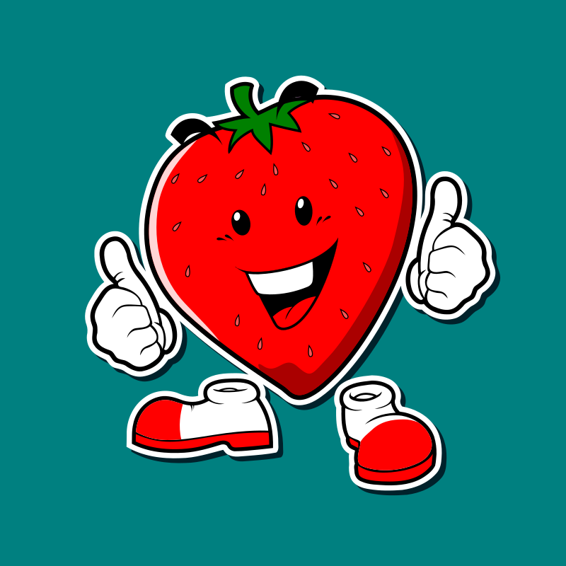 strawberries mascot