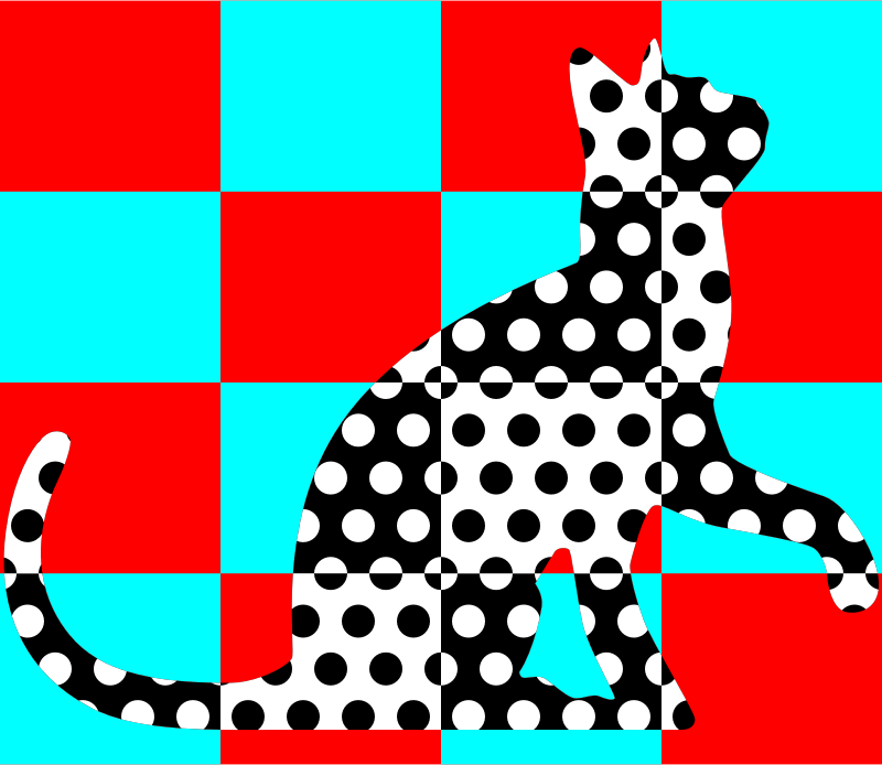 Chequered dotted cat