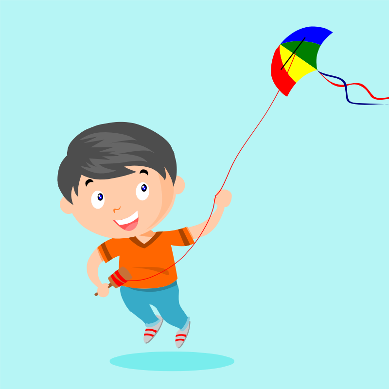 playing kite animation