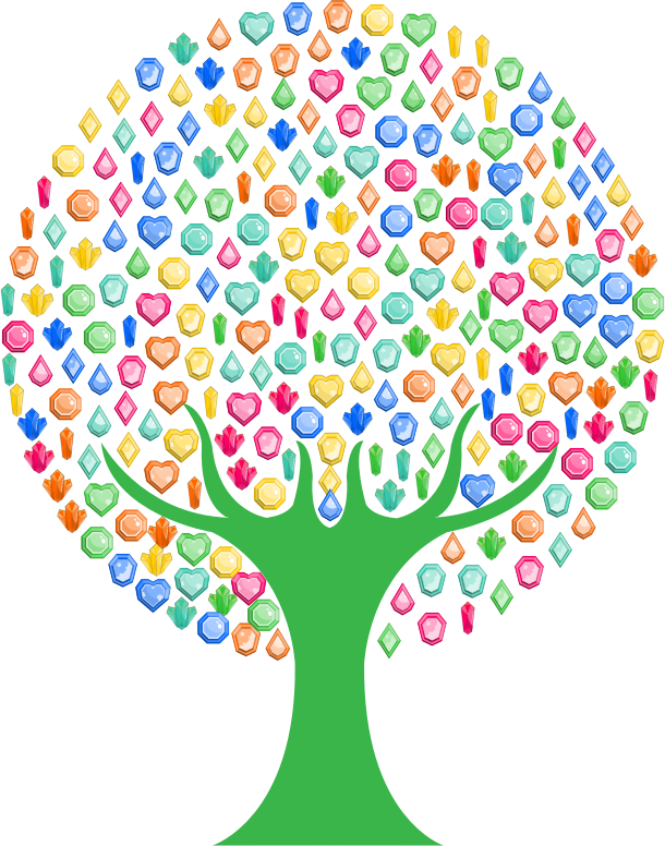 Colorful Gems Tree