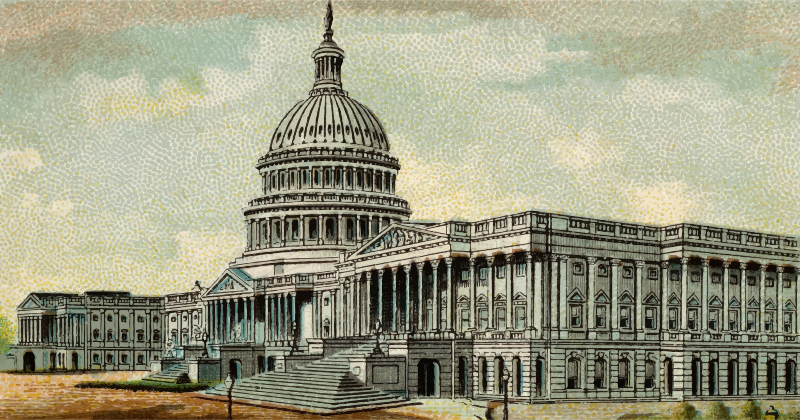 Cigarette Card - Capitol Building of United States