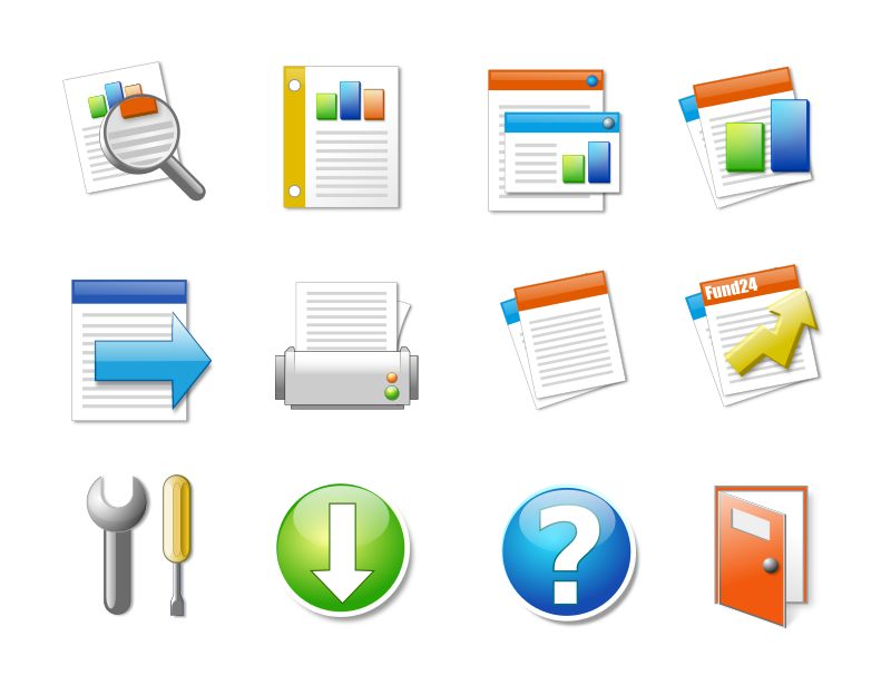 Icon Set Office Candy