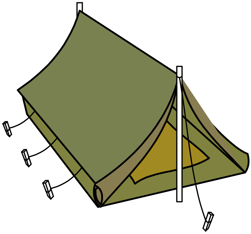 military style tent