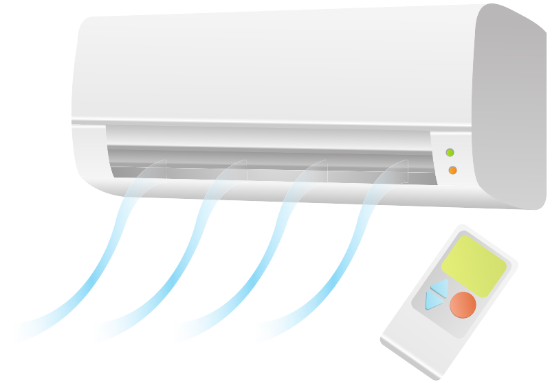 Air condition unit with remote