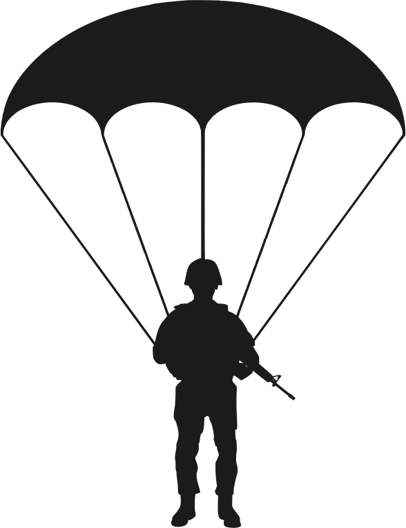 Paratrooper Silhouette