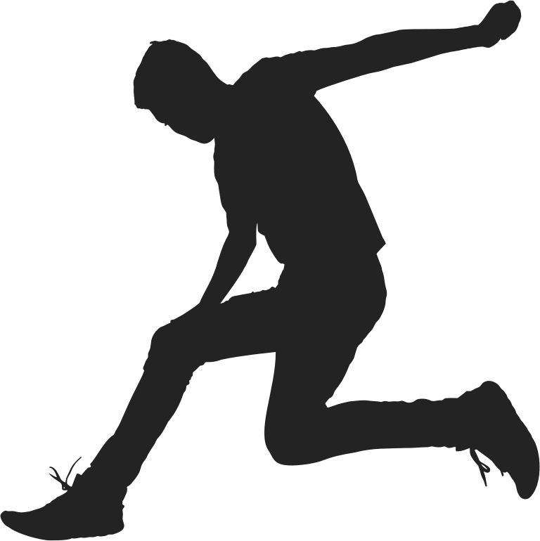 Man Jumping Silhouette 2