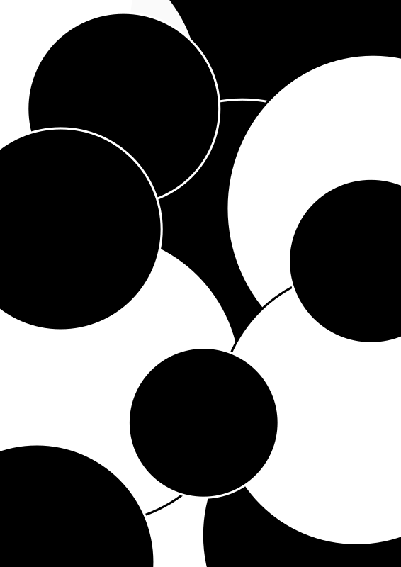 Circles black and white