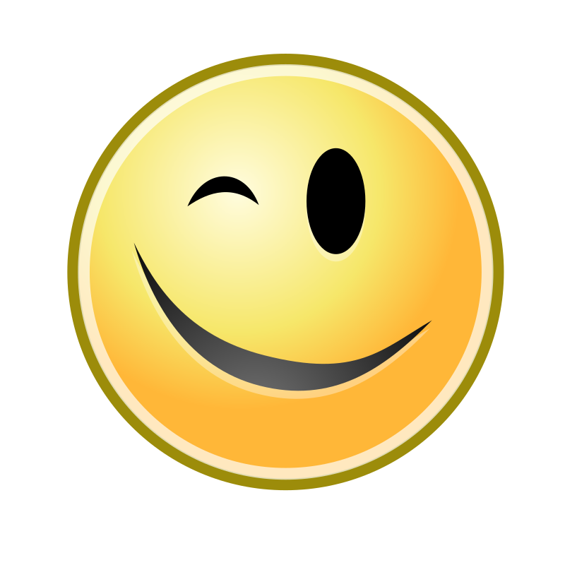 Wink Smiley yellow - Openclipart