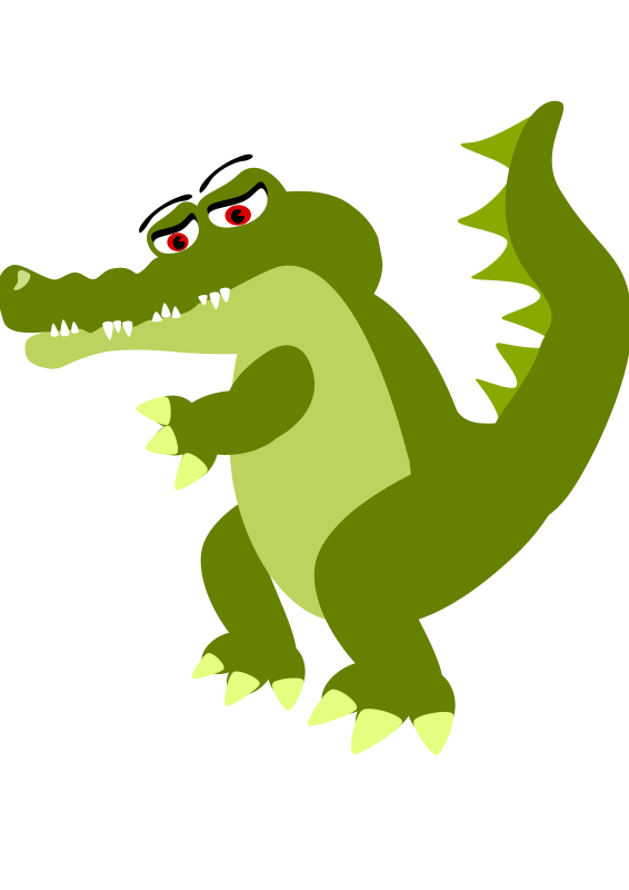 Sad Crocodile Cartoon