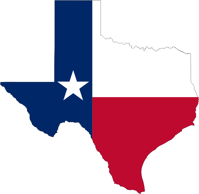 Texas State Flag Map
