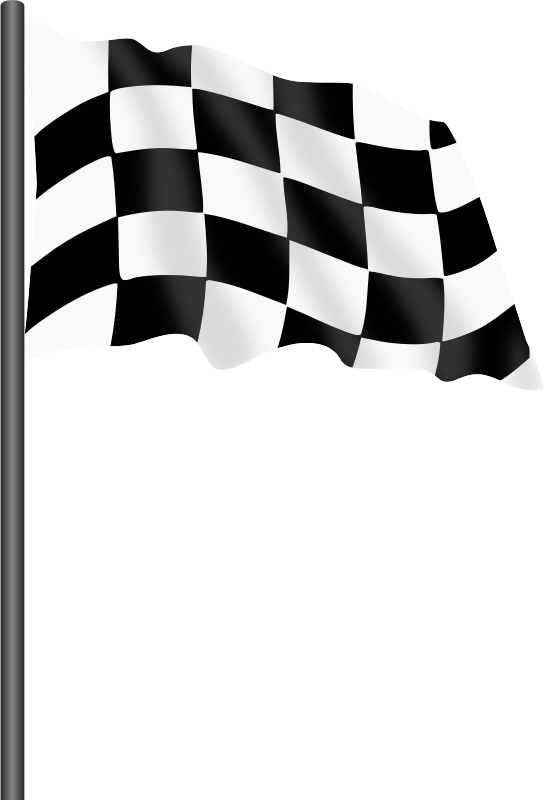 Motor racing flag 1 - chequered flag