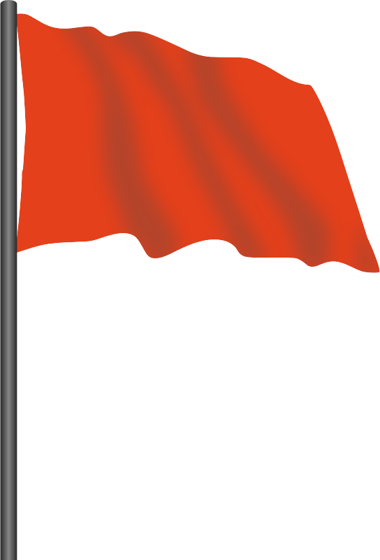 Motor racing flag 2 - red flag
