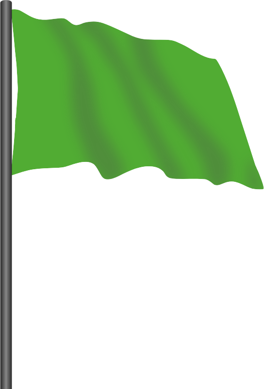Motor racing flag 3 - green flag