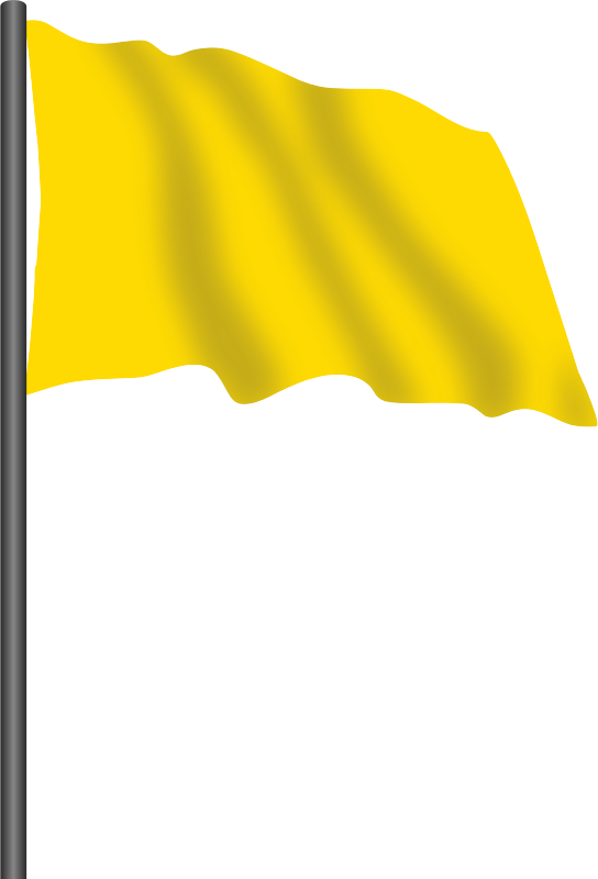Motor racing flag 5 - yellow flag