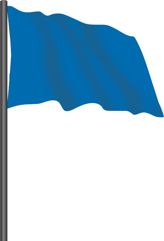 Motor racing flag 6 - blue flag