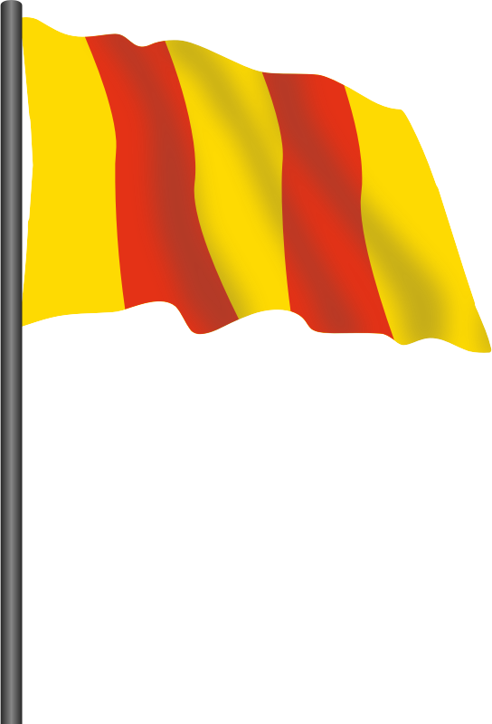 Motor racing flag 8 - red and yellow flag