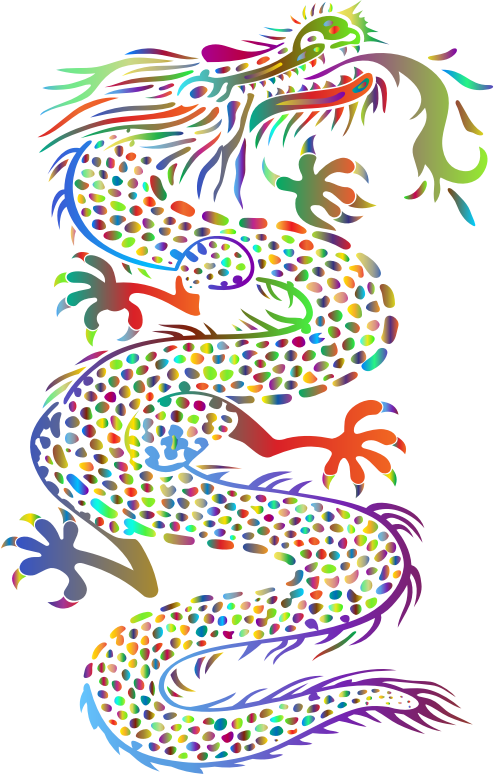 Chromatic Asian Dragon No Background