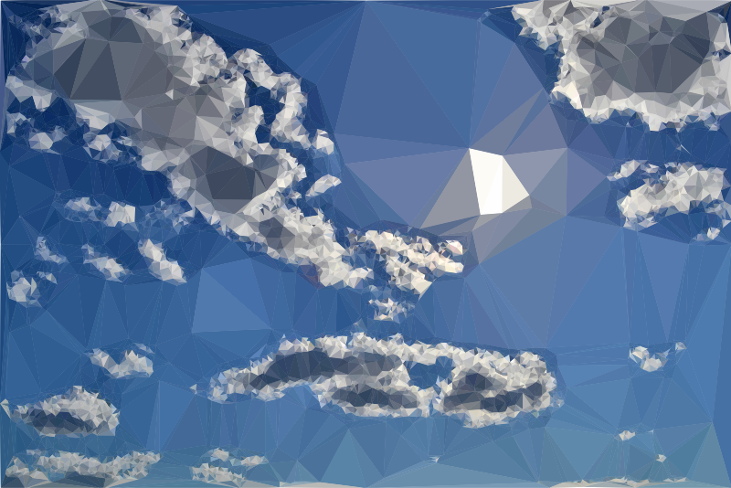 Low Poly Blue Sky 14