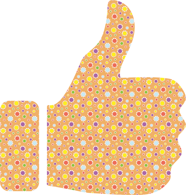 Cute Floral Thumbs Up
