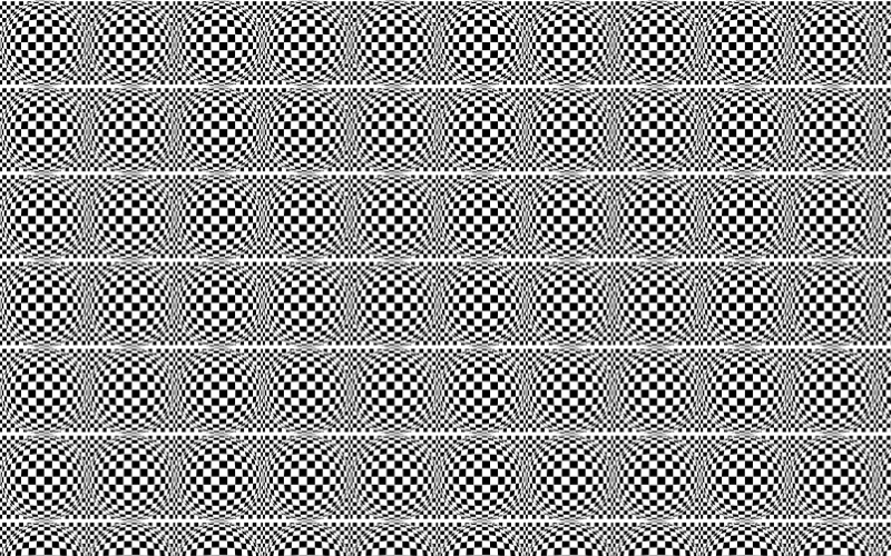 Seamless Distorted Checkerboard Pattern