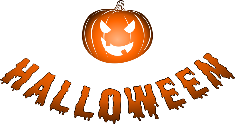 Halloween logo with jack-o'-lantern