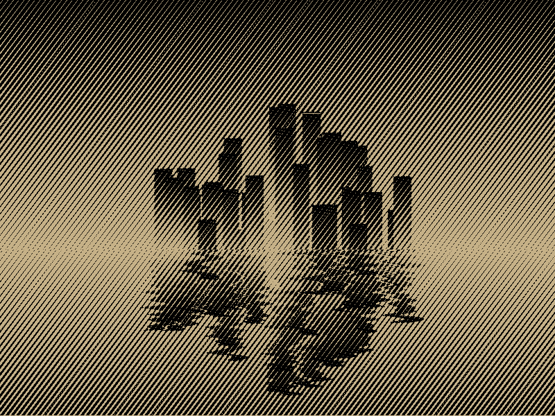 city skyline reflection (animated) 2