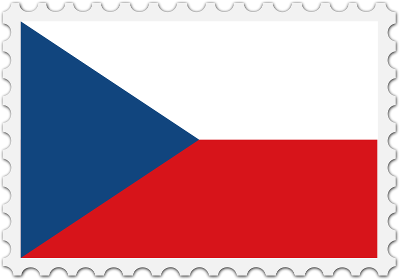 Czech Republic flag stamp