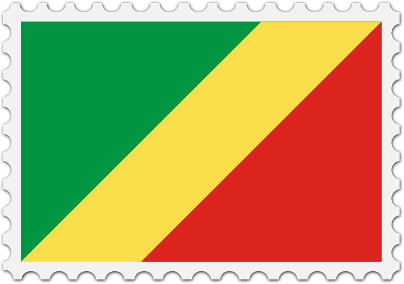 Republic of the Congo flag stamp