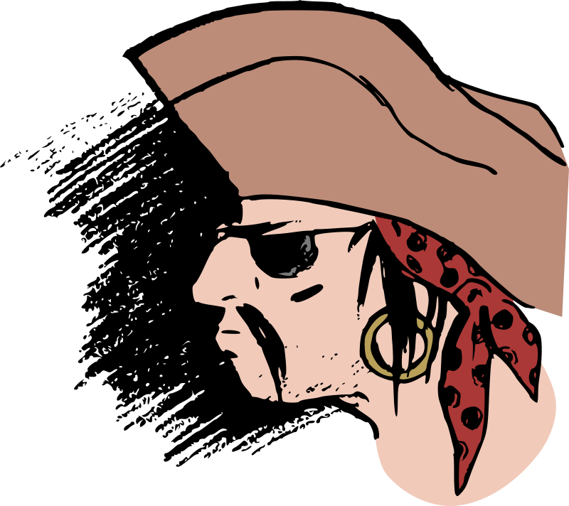Pirate Head - Colour