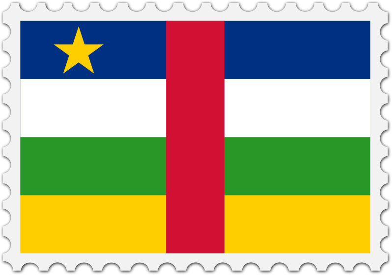 Central African Republic flag stamp