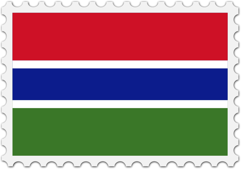 Gambia flag stamp