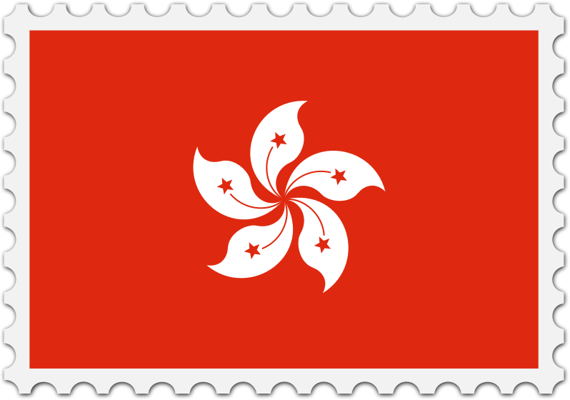 Hong Kong flag stamp