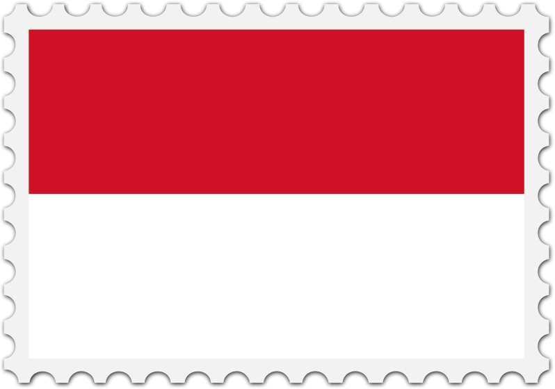 Indonesia flag stamp