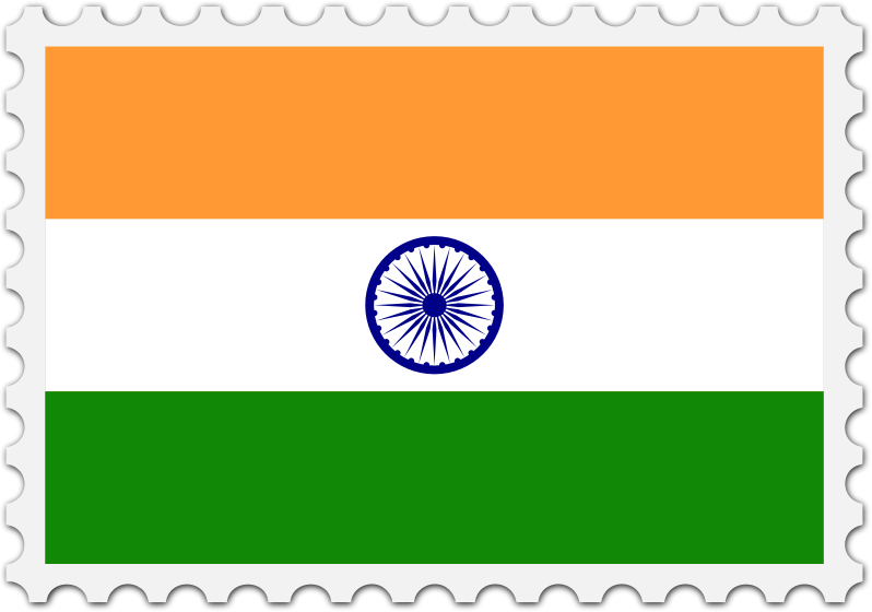 India flag stamp