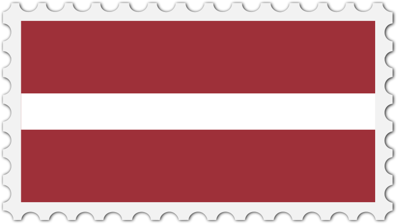 Latvia flag stamp
