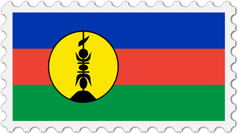 New Caledonia flag stamp
