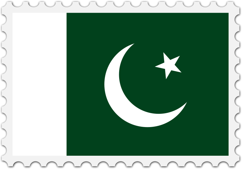 Pakistan flag stamp