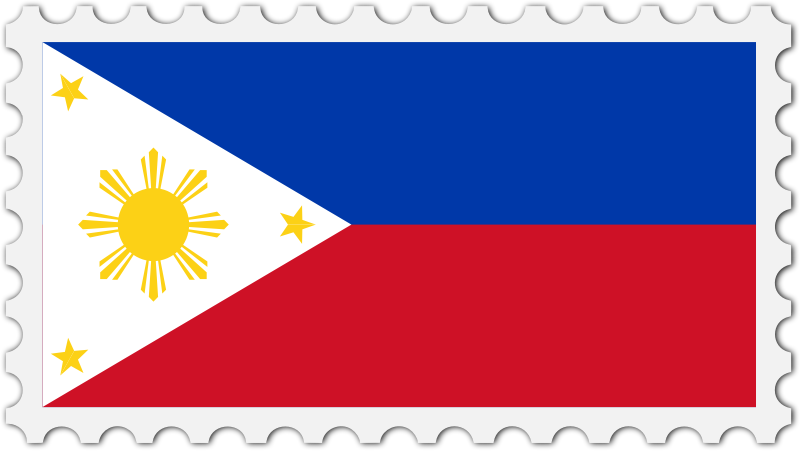 Philippines flag stamp