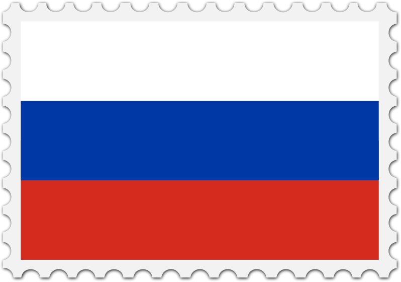 Russia flag stamp