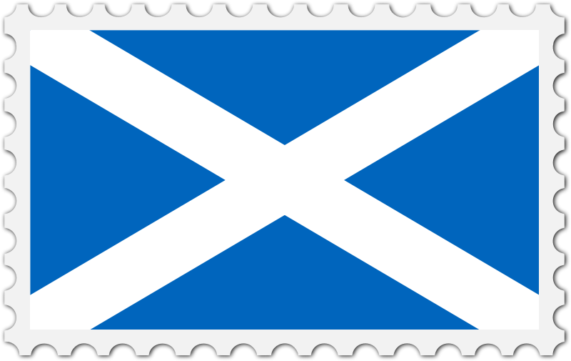 Scotland flag stamp