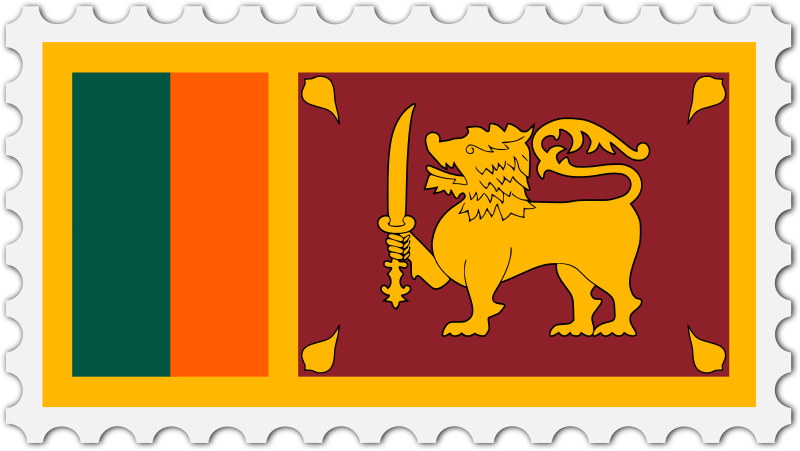 Sri Lanka flag stamp