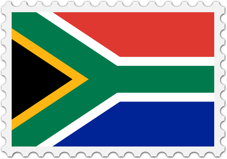 South Africa flag stamp