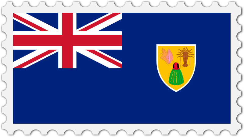 Turks and Caicos Islands flag stamp
