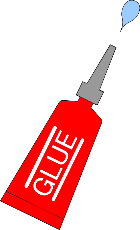 red glue tube with drop
