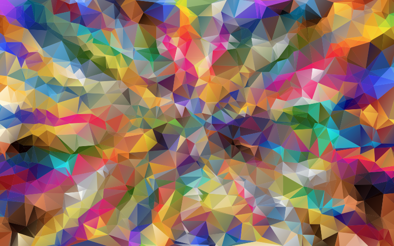 Colorful Low Poly Wallpaper Proper