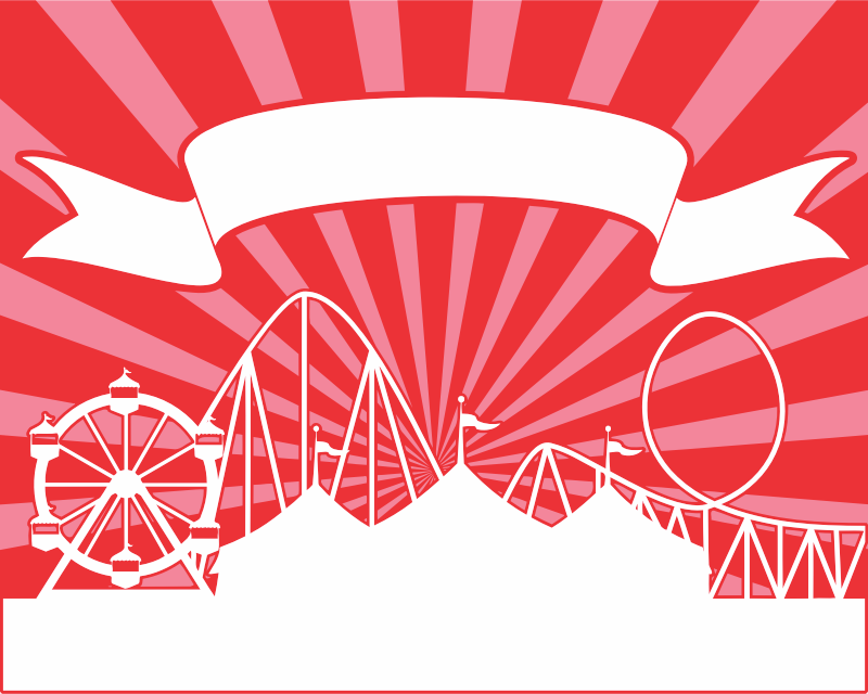 Amusement park banner