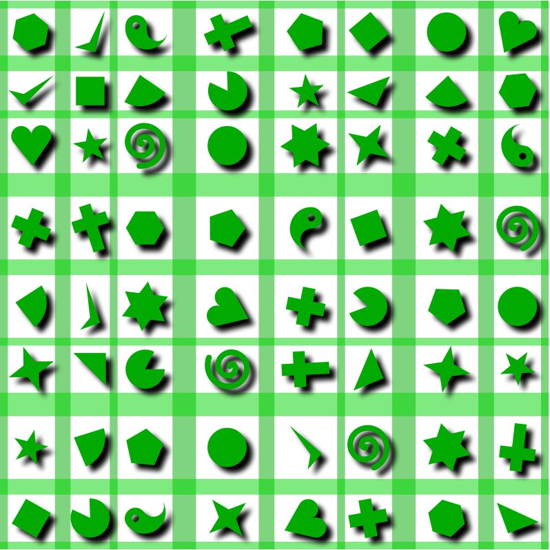 Shapes pattern 2 (colour 2)